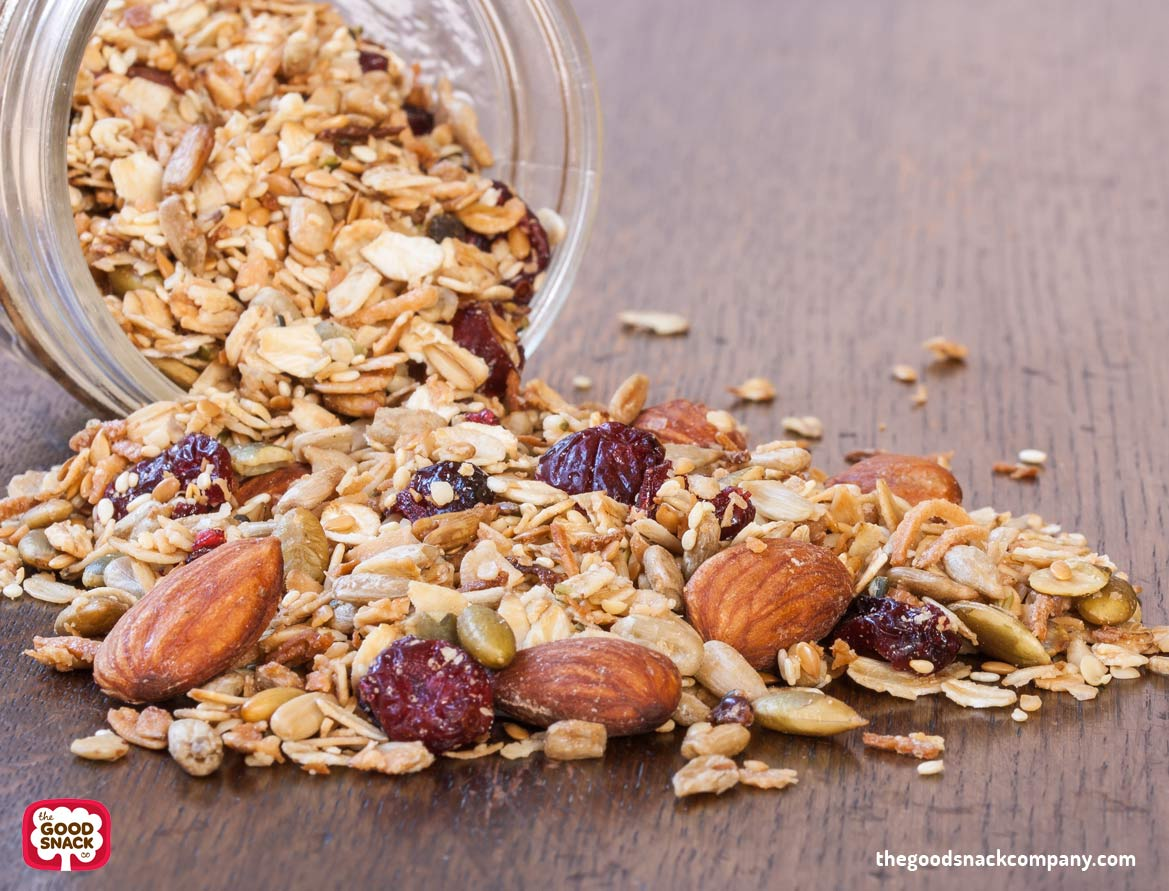 Vegan Granola Recipe - Almonds, Cranberries, Sunflower Seeds - The Good Snack Company