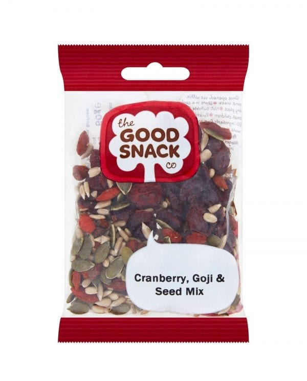 Cranberry, Goji and Seed Mix Package - The Good Snack Company - Healthy Snacks