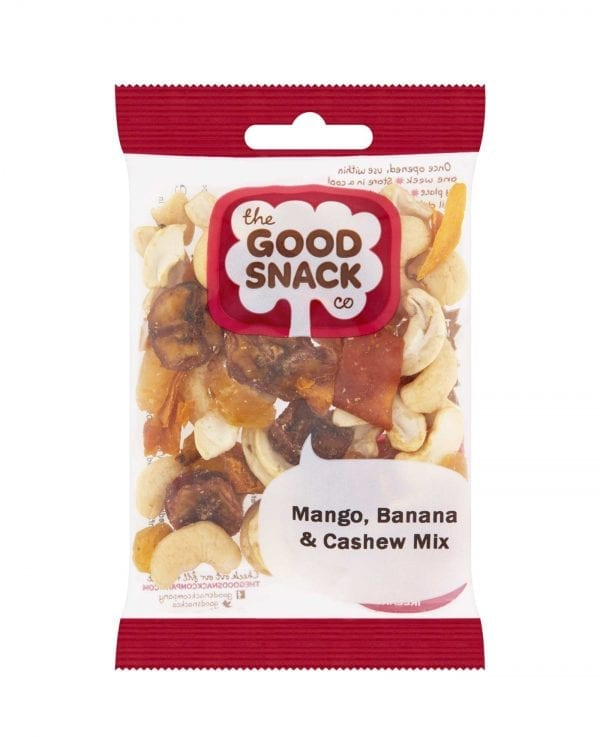 Mango Banana and Cashew Mix - The Good Snack Company - Healthy Snack