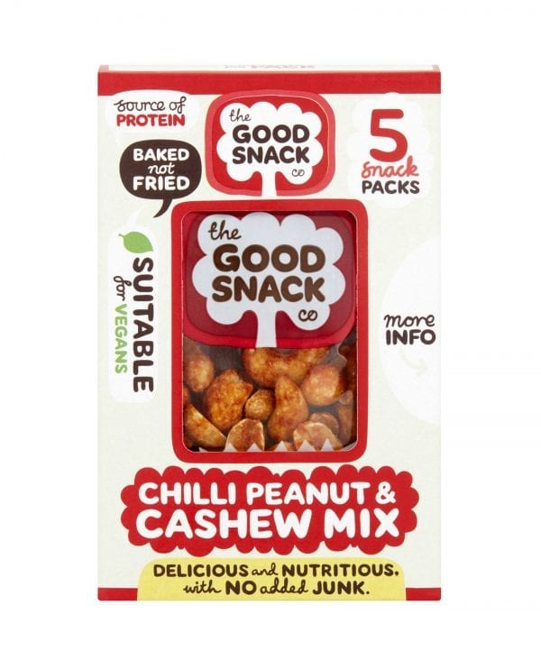 Chili Peanut Cashew Mix - The Good Snack Company - Multipack
