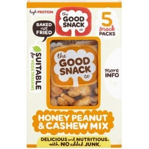 Honey Peanut Cashew Mix - The Good Snack Company - Multipack