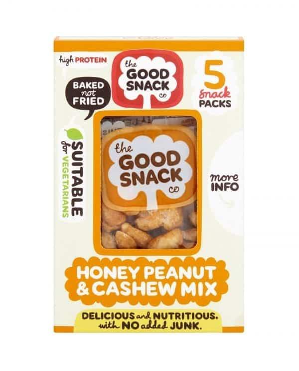 Honey Peanut Cashew Mix - The Good Snack Company - Multipack