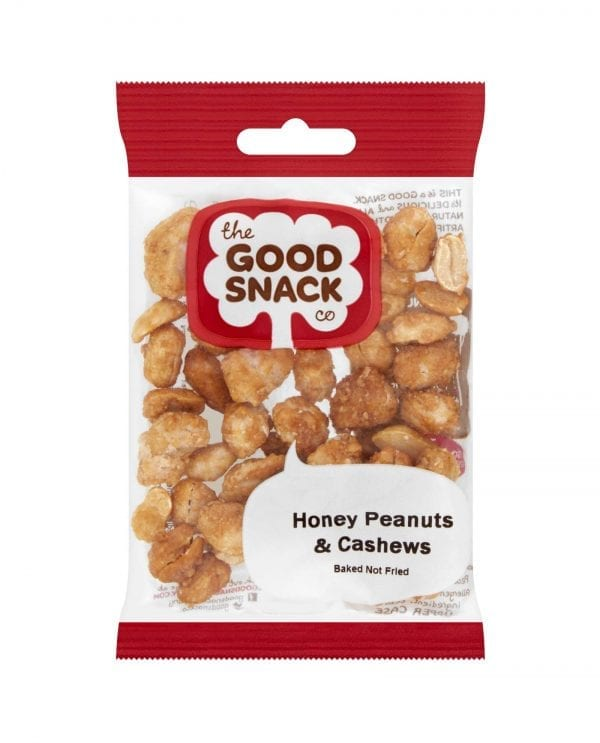 Honey Peanuts and Cashew Mix - Handful - The Good Snack Company
