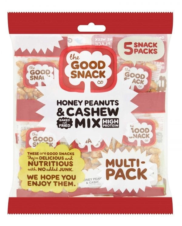Honey Peanuts and Cashew Mix - Multipack - The Good Snack Company